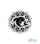 Ekslibrisas - zodiako ženklas Žuvis