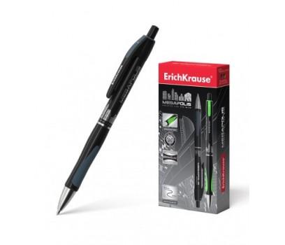 Automatinis tušinukas Megapolis  ErichKrause  0,7mm juodos sp.