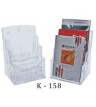 Stovelis brošiūroms K-158  A4 3 skyrių skaidrus