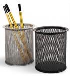 Pieštukinė apvali metalinė ažūrinė juodos sp.