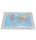 Stalo patiesalas su pasaulio žemėlapio vaizdu Esselte 40 x 65 cm