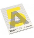 Bloknotas A5 Esselte klijuotas viršuje 100l. 60m/g² langeliais