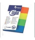 Žymekliai Forpus popieriniai 20x50mm,  4 sp. x 40lap.
