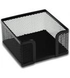 Dėžutė užrašų lapeliams metalinė ažūrinė juodos sp.