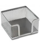 Dėžutė užrašų lapeliams metalinė ažūrinė sidabro sp.