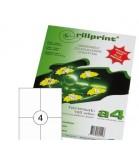 Lipnios etiketės Rillprint A4  105 x 148mm 4 lipd/lap.