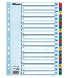 Skiriamieji lapai segtuvams A4 Esselte kartoniniai 1-20 spalvoti skaičiai
