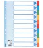Skiriamieji lapai segtuvams A4 Esselte kartoniniai 10 sk.spalvų,