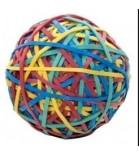 Spalvotų gumyčių kamuolys 170gumelių