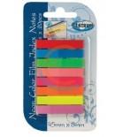 Plastikiniai žymekliai,lipnūs Stick`N 45x8mm 8 neoninių sp.