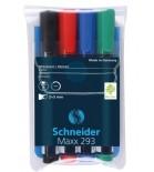 Žymeklių baltai magnetinei lentai rinkinys Schneider MAXX 293 4spalvos